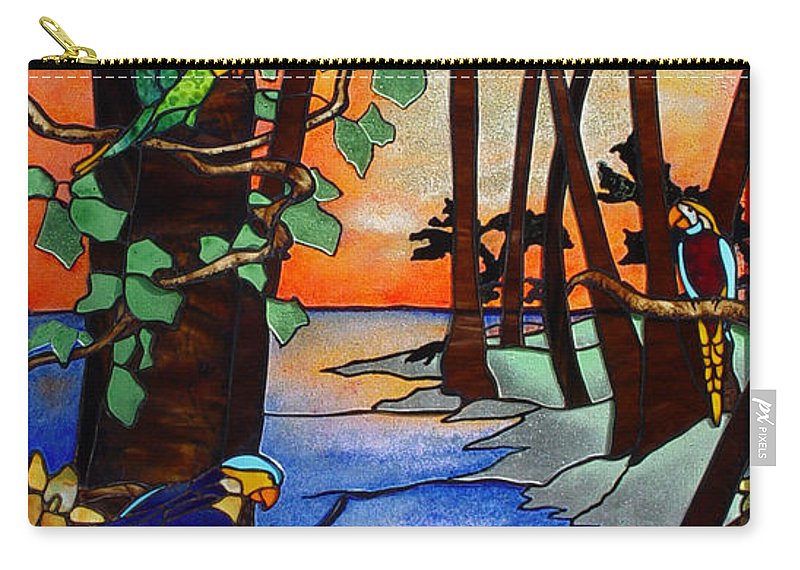 Tahiti Window Carry-all Pouch featuring the glass art Tahiti Window by Peter Piatt