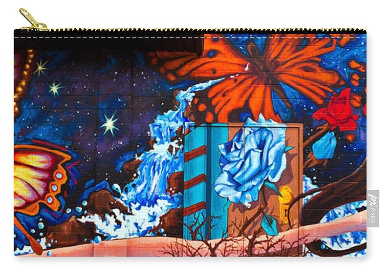 Graffiti Carry-all Pouch featuring the photograph Tahlequah Graffiti by Sennie Pierson