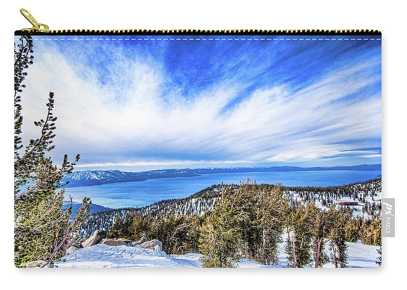 Scenics Carry-all Pouch featuring the photograph Tahoe From Heavenly by Peter Stasiewicz