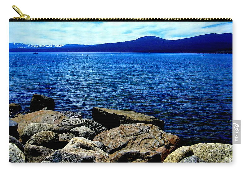 Lake Carry-all Pouch featuring the photograph Tahoe Magic by Bobbee Rickard