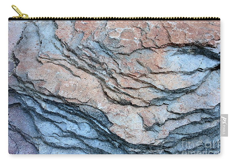 Nature Abstract Carry-all Pouch featuring the photograph Tahoe Rock Formation by Carol Groenen