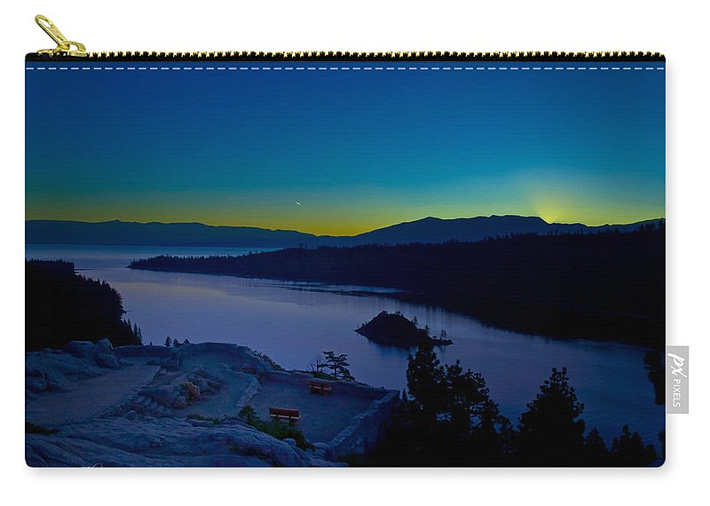 Lakes Carry-all Pouch featuring the photograph Tahoe Sunrise by Jim Thompson