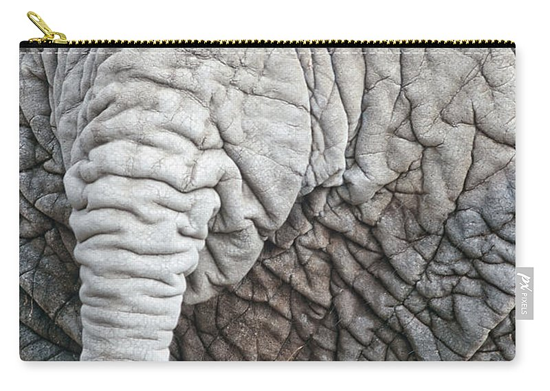 Africa Carry-all Pouch featuring the photograph Tail Of African Elephant by Stephan Pietzko