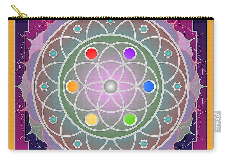 Digital Carry-all Pouch featuring the digital art Tajha 2012 by Kathryn Strick