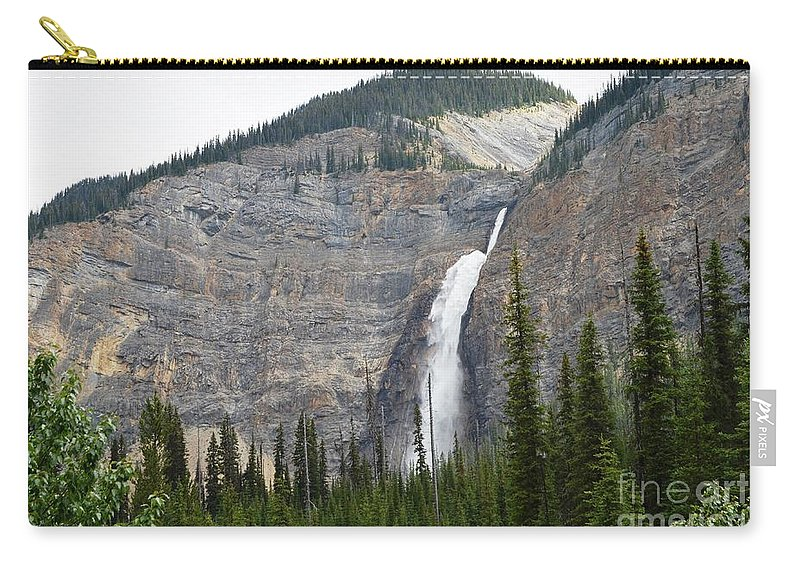 Waterfalls Carry-all Pouch featuring the photograph Takakkaw Falls by Deanna Cagle