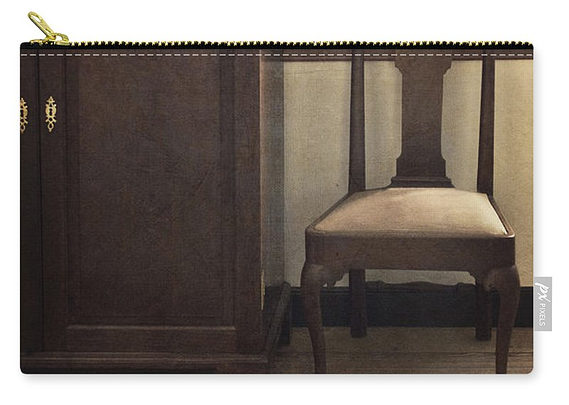 Chair Carry-all Pouch featuring the photograph Take A Seat by Margie Hurwich