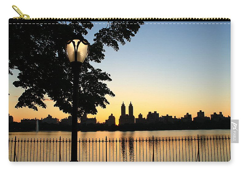 Central Park Carry-all Pouch featuring the photograph Take A Walk Here by Catie Canetti