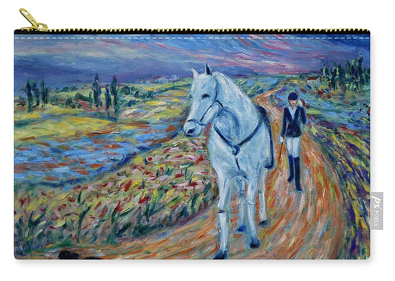 Figurative Carry-all Pouch featuring the painting Take Me Home My Friend by Xueling Zou