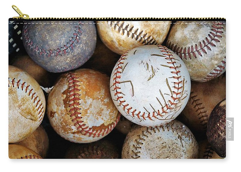 Baseball Carry-all Pouch featuring the photograph Take Me Out To The Ball Game by Jean Goodwin Brooks