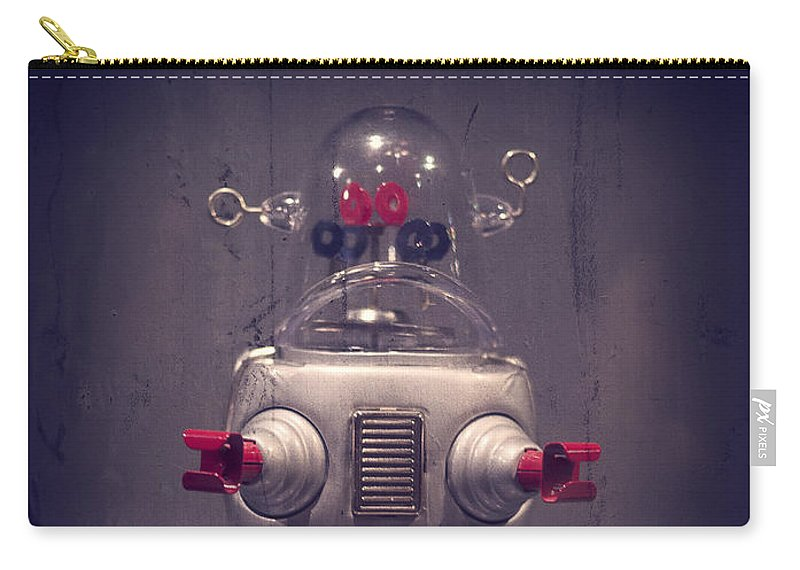 Grunge Carry-all Pouch featuring the photograph Take Me To Your Leader by Edward Fielding
