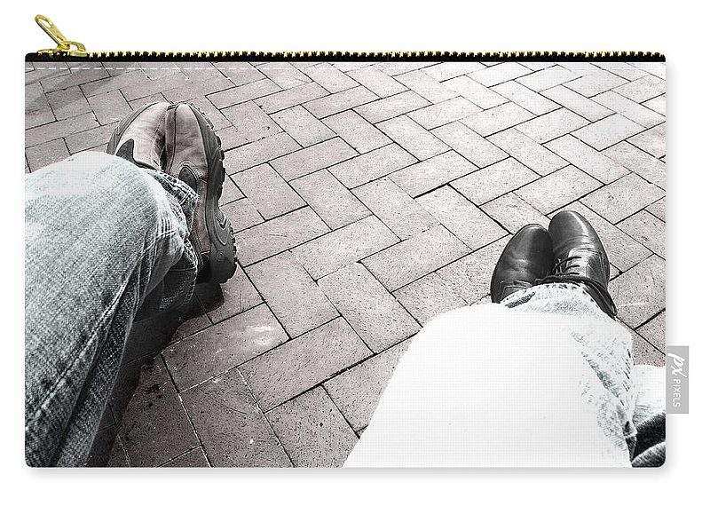 Feet Carry-all Pouch featuring the photograph Taking A Break by Sue McElligott