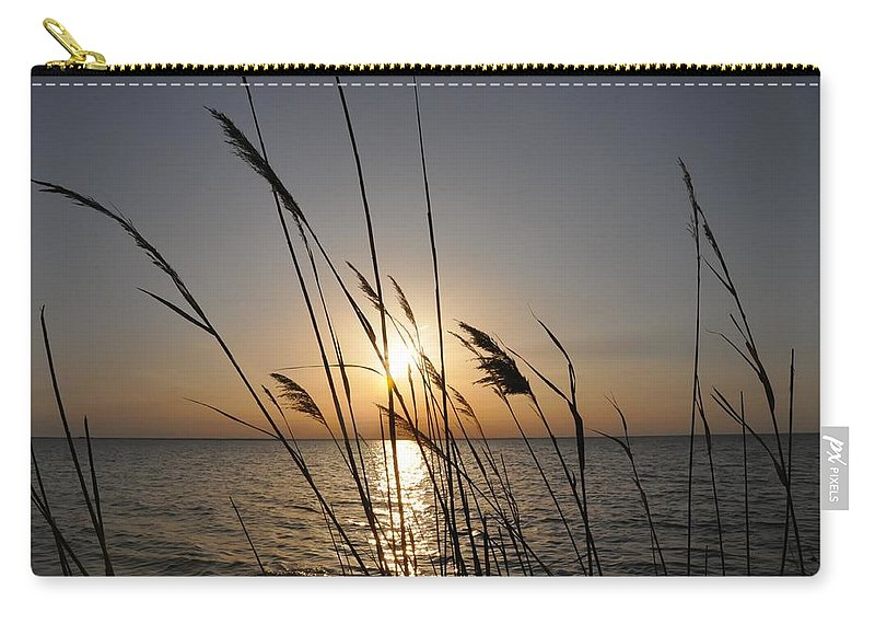 Sunset Carry-all Pouch featuring the photograph Tall Grass Sunset by Bill Cannon