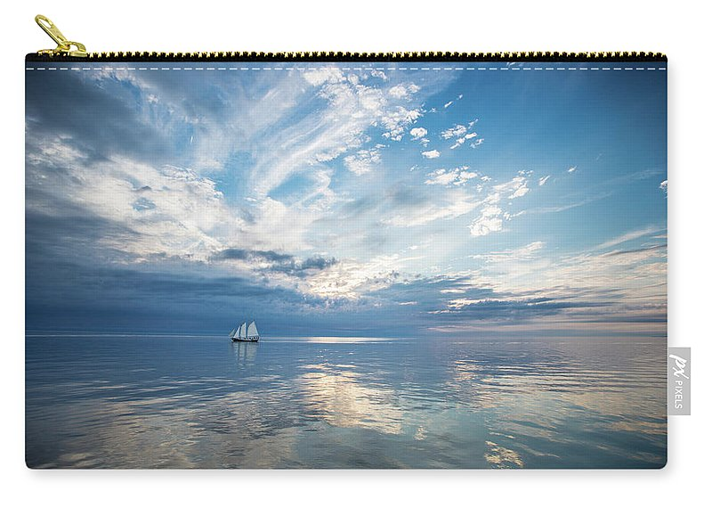 Tranquility Carry-all Pouch featuring the photograph Tall Ship On The Big Lake by Rudy Malmquist