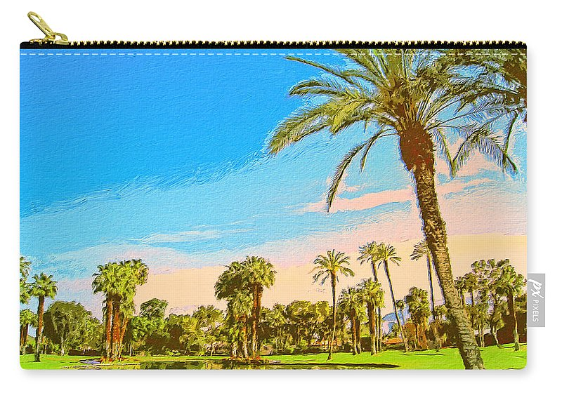 Golf Carry-all Pouch featuring the painting Tamarisk Morning by Dominic Piperata