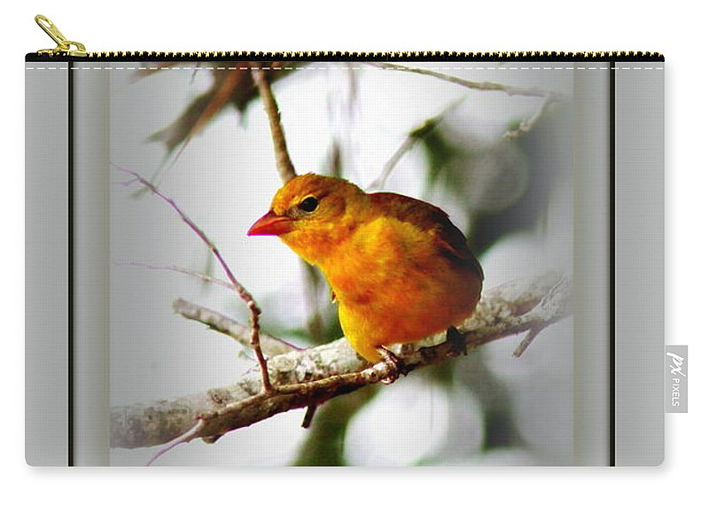Tanager Carry-all Pouch featuring the photograph Tanager 4296 by Travis Truelove
