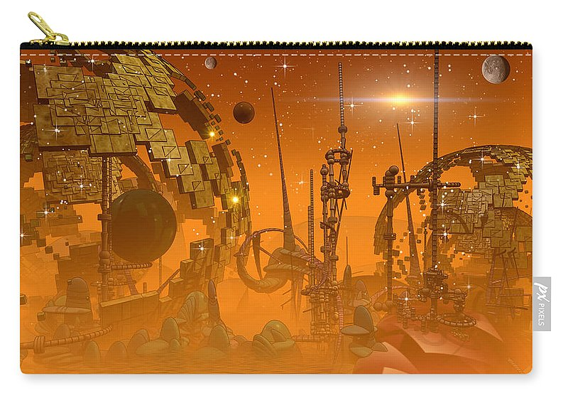 Philh Sadler Carry-all Pouch featuring the digital art Tangerine by Phil Sadler