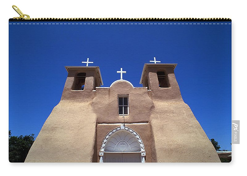New Mexico Carry-all Pouch featuring the photograph Taos Mission by Rich Franco