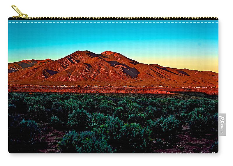 Sangre Carry-all Pouch featuring the photograph Taos Sunset by Charles Muhle