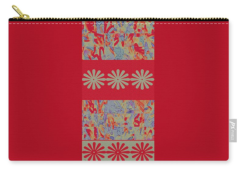 Red Carry-all Pouch featuring the digital art Tapestry by Ben and Raisa Gertsberg