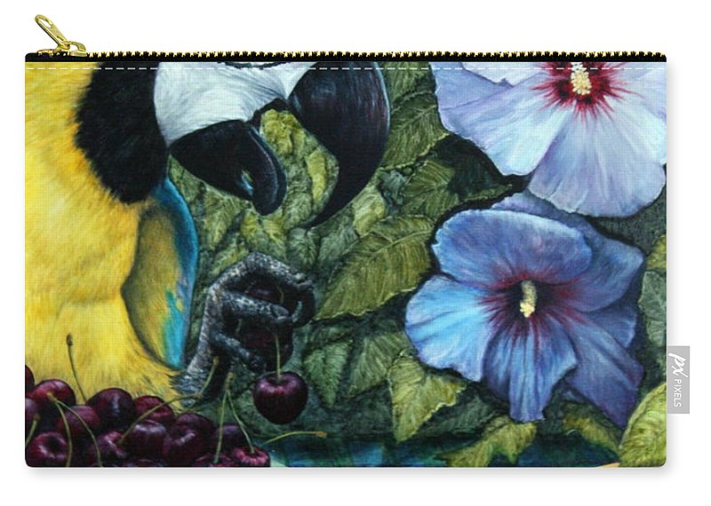 Macaw Carry-all Pouch featuring the painting Tapestry by Joey Nash
