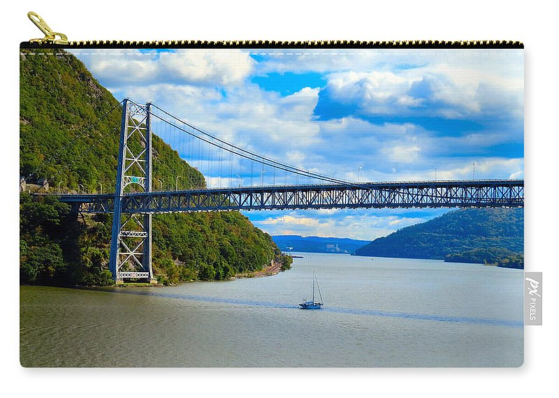 Sky Carry-all Pouch featuring the photograph Tappan Zee Span by Art Dingo