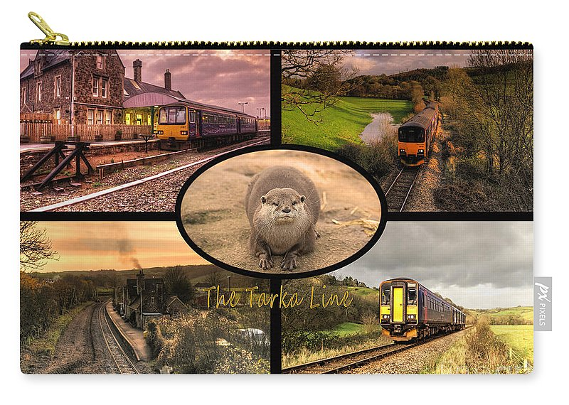 Tarka Carry-all Pouch featuring the photograph Tarka Line by Rob Hawkins