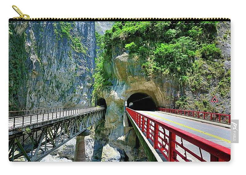 Built Structure Carry-all Pouch featuring the photograph Taroko Gorge by Photography By Anthony Ko