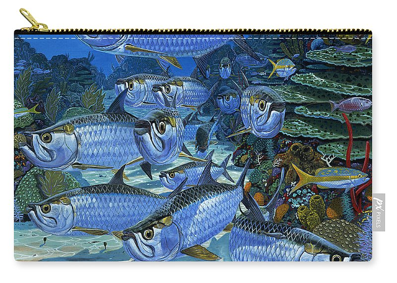 Tarpon Carry-all Pouch featuring the painting Tarpon Alley In0019 by Carey Chen