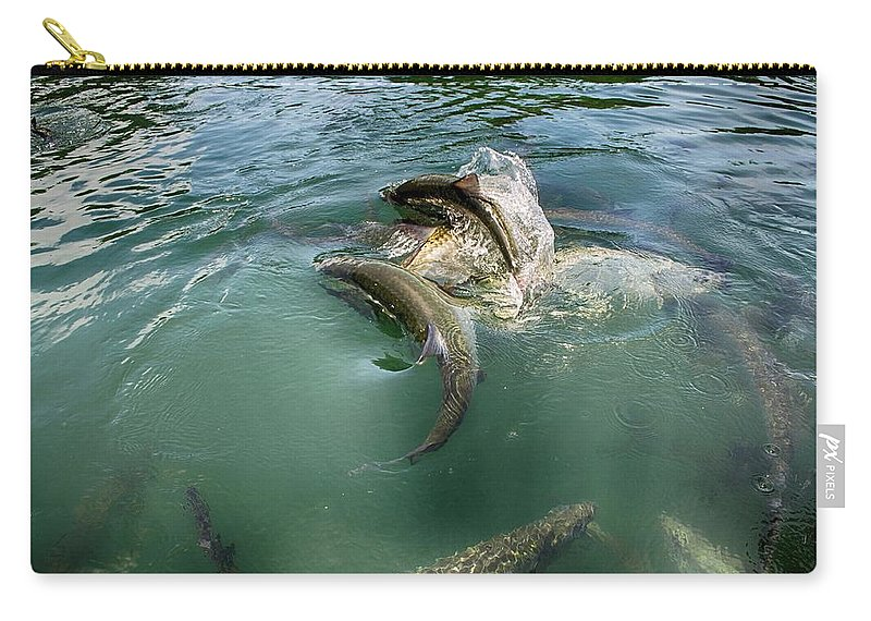 Tarpon Photograph Carry-all Pouch featuring the photograph Tarpon Jump by Kristina Deane