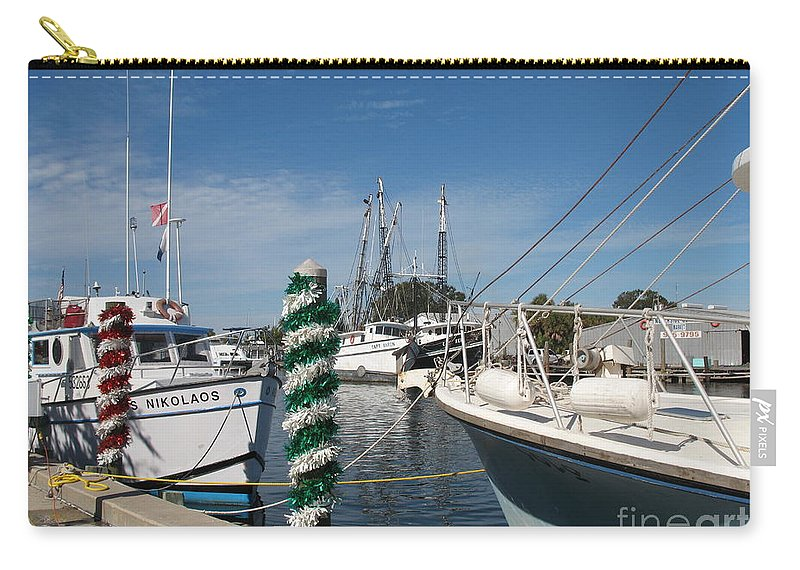 Fishing Boats Carry-all Pouch featuring the photograph Tarpon Springs Fishing Boats by Christiane Schulze Art And Photography