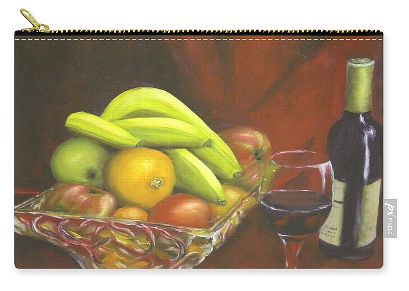 Still Life Carry-all Pouch featuring the painting Taste Of Life by Lou Magoncia