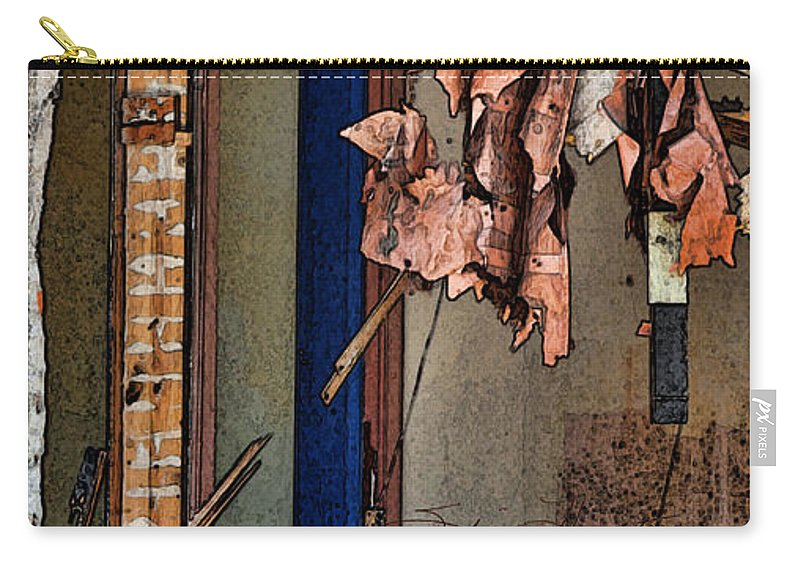 Window Carry-all Pouch featuring the photograph Tattered by Sylvia Thornton