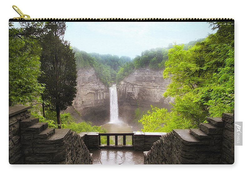 Waterfall Carry-all Pouch featuring the photograph Taughannock Falls by Jessica Jenney