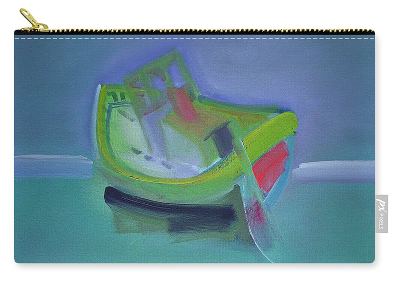 Tavira Carry-all Pouch featuring the painting Tavira Fishing Boat Abandoned by Charles Stuart