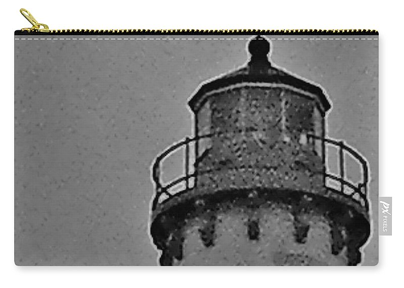 Light Houst Carry-all Pouch featuring the photograph Tawas Point In The Rain by Daniel Thompson