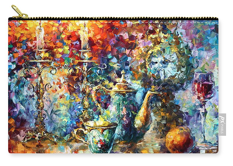 Afremov Carry-all Pouch featuring the painting Tea Time by Leonid Afremov