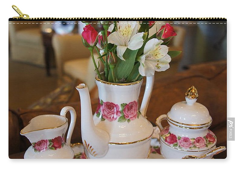 Tea Carry-all Pouch featuring the photograph Tea Time by Megan Cohen