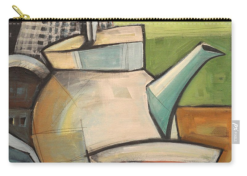 Tea Carry-all Pouch featuring the painting Tea Time by Tim Nyberg