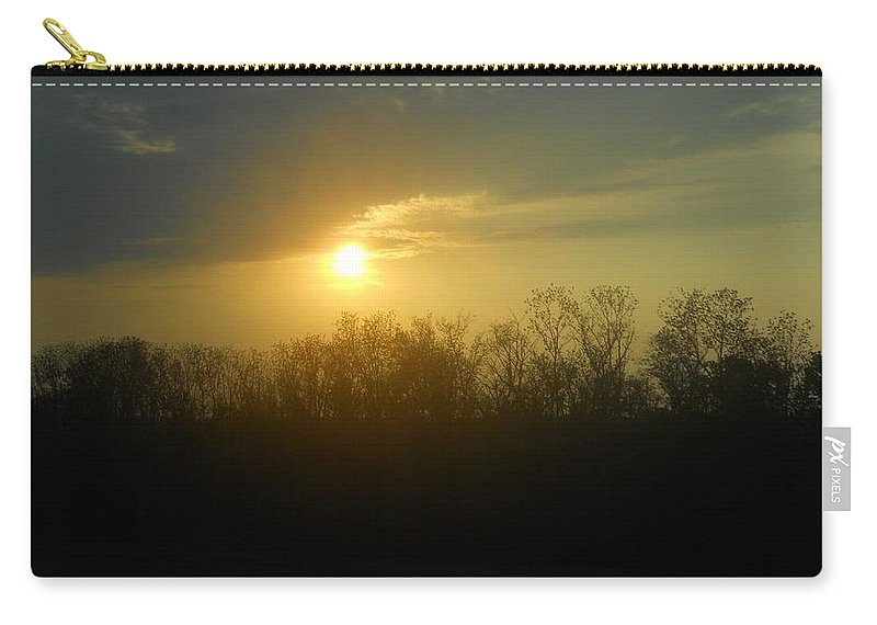 Sunset Carry-all Pouch featuring the photograph Teacher And Class by Coleen Harty