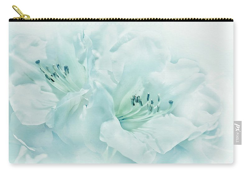 Azalea Carry-all Pouch featuring the photograph Teal Green Azalea Flowers by Jennie Marie Schell