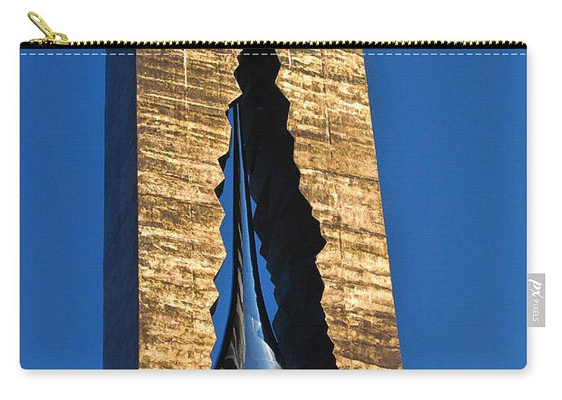 Teardrop Carry-all Pouch featuring the photograph Teardrop 9 - 11 Memorial Bayonne N J by Allen Beatty