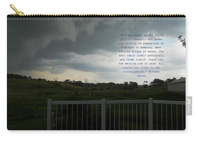 Quotes Carry-all Pouch featuring the photograph Tears by Coleen Harty