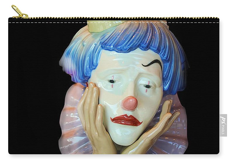 Clown Carry-all Pouch featuring the photograph Tears Of A Clown by Carlos Diaz