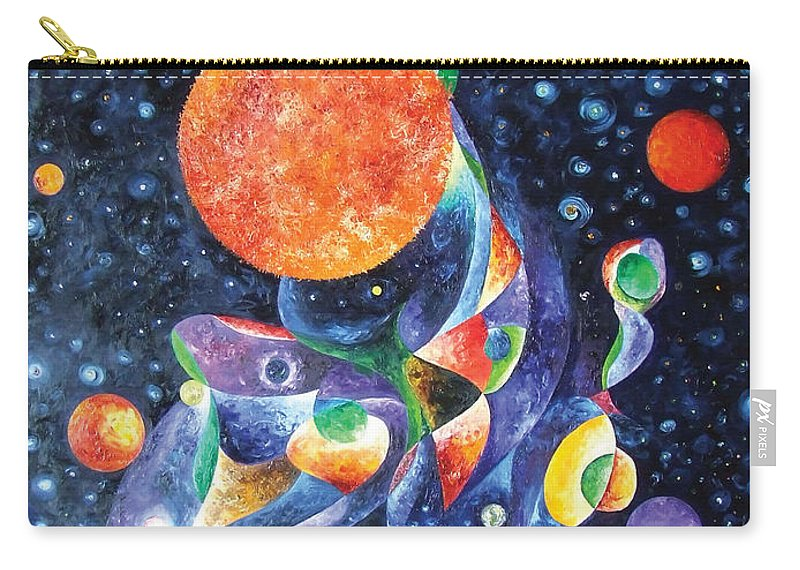 Sun Carry-all Pouch featuring the painting Tears Of God by Bert Munoz