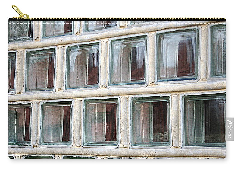 Windows Carry-all Pouch featuring the photograph Technocratic Windows by William Selander