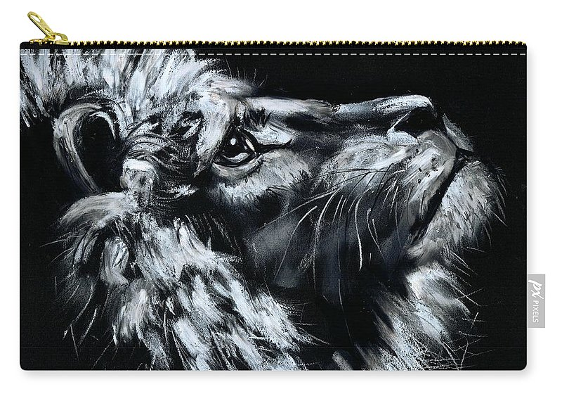 Lion Carry-all Pouch featuring the photograph Tell Me When the Wait is OVER by Artist RiA