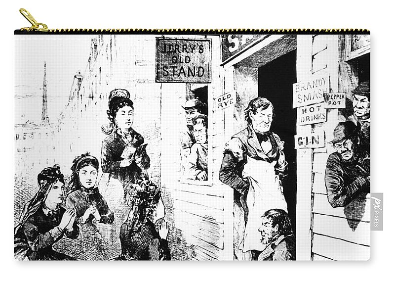 1874 Carry-all Pouch featuring the photograph Temperance Movement, 1874 by Granger