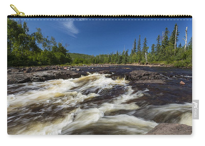 Water Carry-all Pouch featuring the photograph Temperance River 3 by John Brueske
