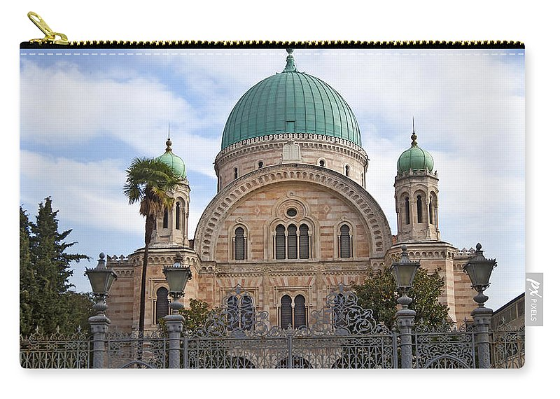Synagogue Carry-all Pouch featuring the photograph Tempio Maggiore The Great Synagogue Of Florence by Liz Leyden