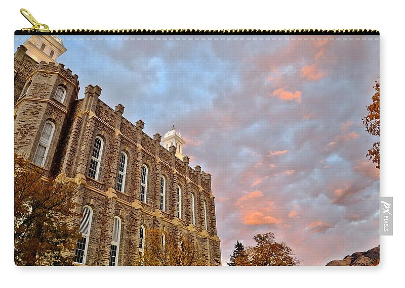 Logan Carry-all Pouch featuring the photograph Temple High by David Andersen